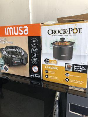 Imusa Electeic Burner, Mini Crock Pot for Sale in Spring Valley, CA