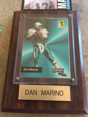Miami Dolphins Dan Marino Plaque and Card Lot for Sale in Queen Creek, AZ