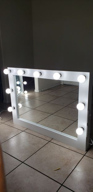 Large vanity makeup mirror 30x42 for Sale in Rancho Cucamonga, CA