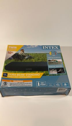 Intex Twin Standard Durabeam Standard Airbed 10 inch Height Camping Air Mattress for Sale in Edinburgh,  IN