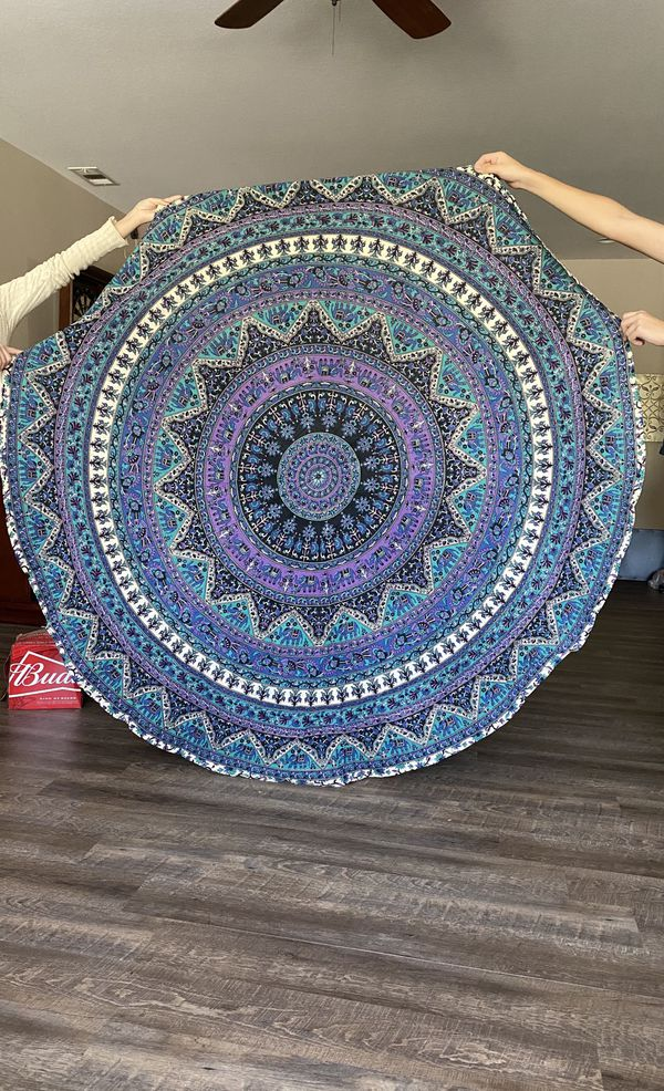 Beautiful round wall and table deco tapestry new