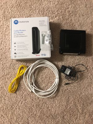Motorola Cable Modem and Router Combo for Sale in Joint Base Andrews, MD