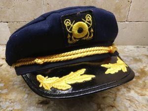 Snapback Adjust Captains Hat Ship Captain Hat Halloween Costume for Sale in St. Petersburg, FL