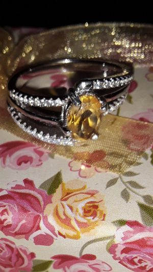 Natural Citrine Quartz Ring Sterling Silver Sz 6 for Sale in Vancouver, WA