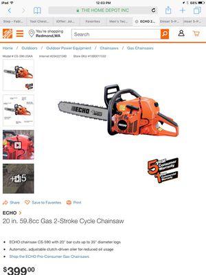 Echo 59 cc gas 2 stroke chainsaw for Sale in Redmond, WA