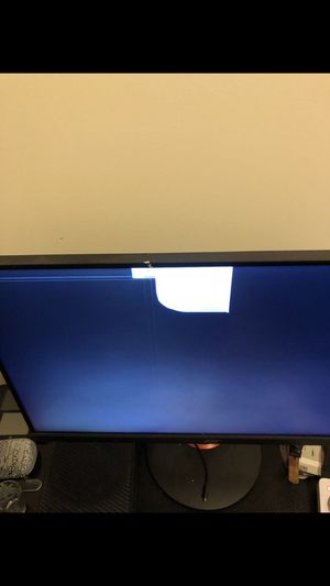 "27"" computer monitor. Great for gaming. Closest door fell on it. Everything works but the whiteout square. for Sale in Chicago, IL"