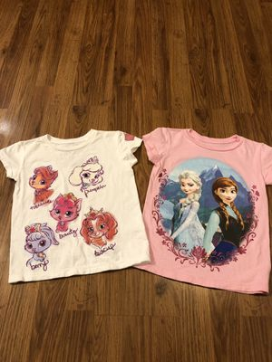 Disney Store Princess T-shirts Size 5/6 for Sale in Sevierville, TN
