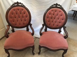 Antique Victorian Rose carved chairs for Sale in Plano, TX