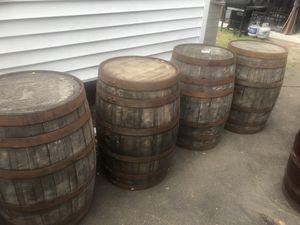 Oak barrels empty each $130 for Sale in Union Beach, NJ