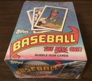 1989 Topps Factory Sealed Unopened Baseball Wax Box 36 Packs - HOF Randy Johnson, John Smoltz, & Craig Biggio RC Year for Sale in Montebello, CA