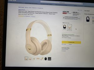 Beats Studio3 Wireless Noise Cancelling Headphones - Desert Sand for Sale in Madison, WI