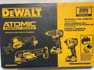 DEWALT. 20Volt. MAX. BRUSHLESS. CORDLESS 4-tool Combo Kit for Sale in Phoenix, AZ