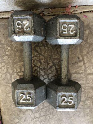 25 lb hex dumbbells for Sale in Phoenix, AZ