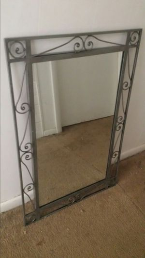 XL Vintage Iron Decorative Mirror for Sale in Fairfax, VA