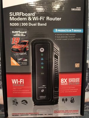 Motorola Arris Modem and Wi-Fi Router - 4 port gigabyte router for Sale in Pittsburgh, PA