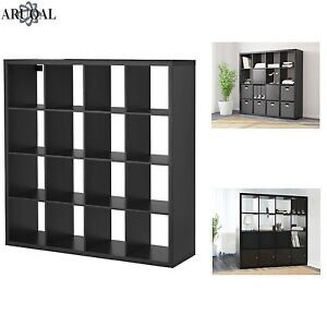 Black/Brown Ikea Kallax 4x4 Cube Storage Shelving - Brand New for Sale in Queens, NY