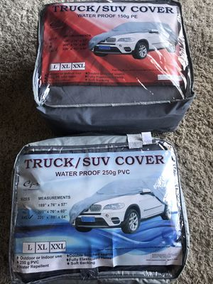 Truck covers,car covers,dashboard covers, windshield sunshade covers pricing starts at $5-$10-$15-$20-$30-$40(full size truck covers and xxl car cov for Sale in San Diego, CA