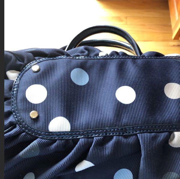 Kate Spade Karen hobo bag with tags - navy blue and polka dots