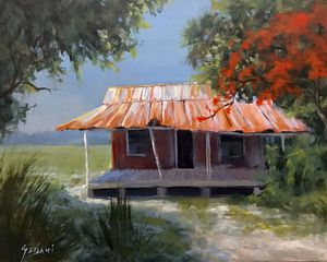 Florida landscape painting. Original and signed! for Sale in Palm Beach Gardens, FL