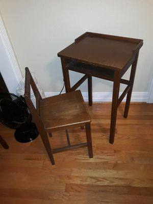 Antique oak child's desk with matching chair for Sale in Dallas, TX