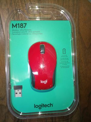 Logitech M187 Mini Wireless Mouse Red New for Sale in Las Vegas, NV