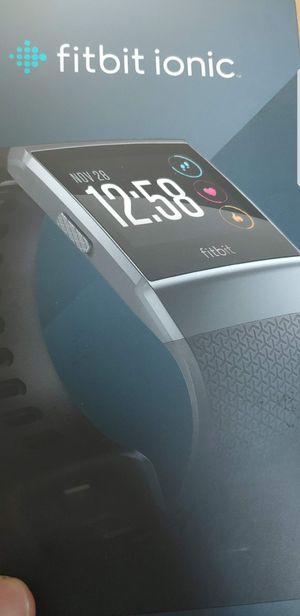 Like new in box 40mm fitbit ionic smart watch waterproof 8 day battery for Sale in Elk Grove, CA