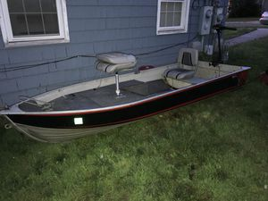 12 aluminum fishing boat with trailer (not in picture) for Sale in Naugatuck, CT