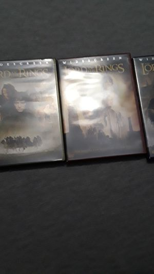 Lord of the Rings trilogy widescreen edition all the DVDs of work perfectly no scratches for Sale in Hollywood, FL