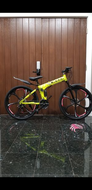 Foldable Mountain Bicycle - Electric Yellow for Sale in Riverwoods, IL