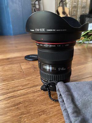 Canon 17-40mm f4L Lens! for Sale in Delray Beach, FL