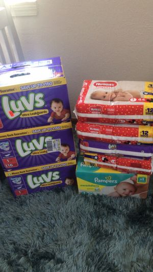 Size 1, Luvs Pampers ultra leakage and swaddlers or we can swap out for Sale in Cleveland, OH