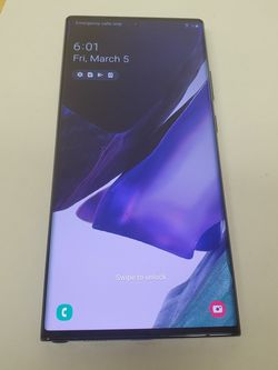 Samsung Galaxy Note 20 Ultra 5g 128GB Unlocked for Sale in Fountain Valley,  CA