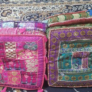 Traditional Hand Made Floor Cushions for Sale in Springfield, VA