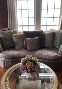 Sofa to arm chairs coffee table 2 end tables fairly good condition for Sale in Glen Burnie,  MD
