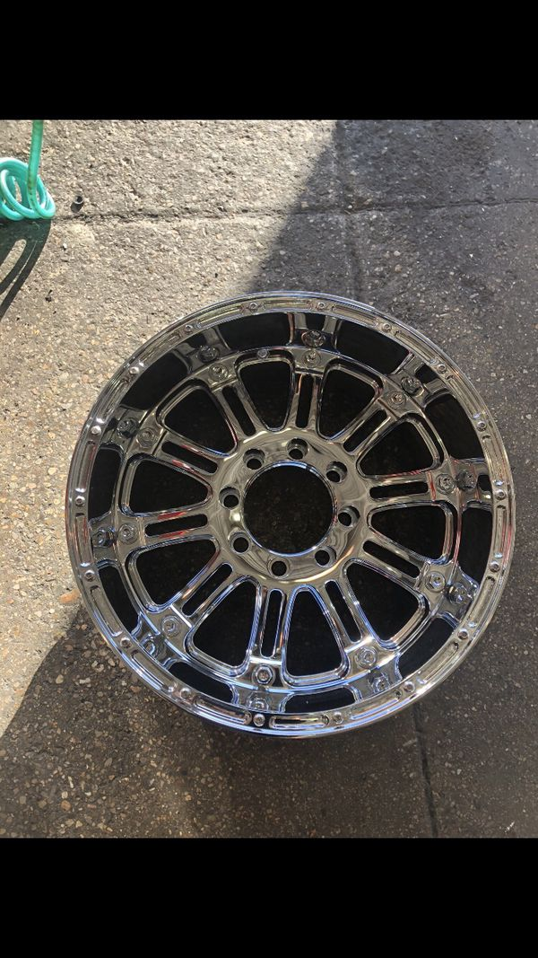 (4) XD KMC 8 Lug chrome Wheels/Rims (Tire's not included/separate listing)