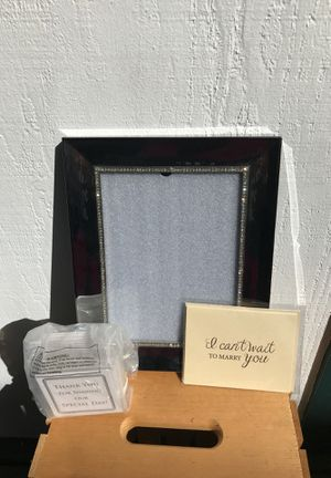 Beautiful bridal wedding frame and bonus cards and coasters for Sale in Oakland, CA