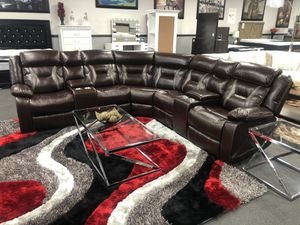 Brown Leather Sofa Sectional on SALE 🔥 for Sale in Fresno, CA