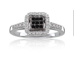 Genuine black and white diamond Size 7 for Sale in Atlanta, GA