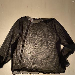 Black Plus Size Mesh Shirt See Through for Sale in Sacramento, CA