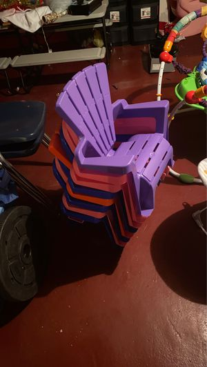Stack Of Kids Lounge Chairs (8) for Sale in Baltimore, MD