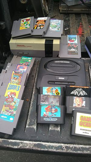 Old school Sega Genesis in six games and Nintendo where 12 games and I have the cords for the Nintendo not for the Sega for Sale in Auburn, WA
