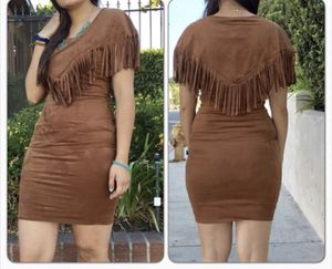 SEXY FRINGE BROWN DRESS SIZE SMALL SPRING WOMEN FASHION for Sale in Porter Ranch, CA
