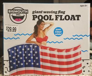 Water tube BIGMOUTH GIANT WAVING FLAG POOL FLOAT for Sale in Fort Lauderdale, FL