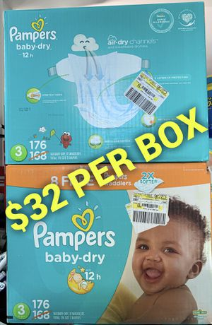 Pampers baby dry size 3 for Sale in Long Beach, CA