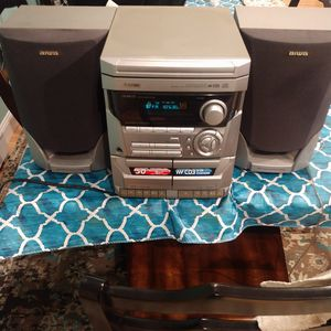 AIWA 3 CD player tape deck and radio for Sale in Mastic Beach, NY
