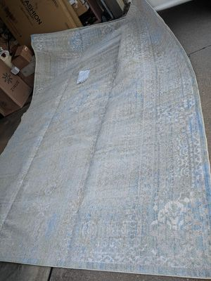 Brand New!! 10 x 14 ft, Unique Loom Vintage Distressed, BROOKLYN, Grey/ Light Sage/ Light Blue This rug is HUGE and stunning! for Sale in Batavia, OH
