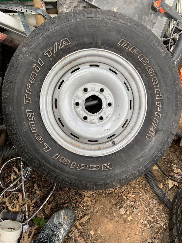 Rim with BF Goodrich tire