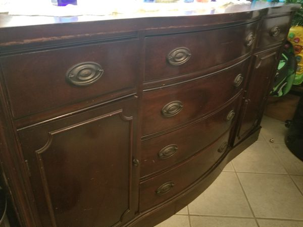 Antique Mahogany Buffet Table