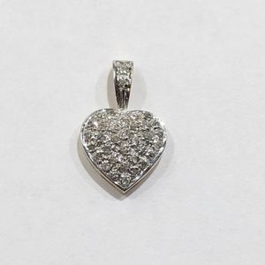9K Yellow Gold Woman's Diamond Heart Pendant with approx. 0.38cttw Diamonds **Great Buy** 10012376-3 for Sale in Tampa, FL