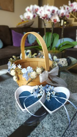 Flower girl basket and ring dish set for Sale in Anaheim, CA